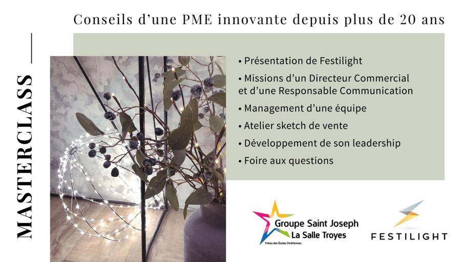 Masterclass Festilight - PME innovante